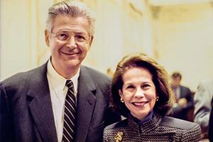 Photo of Robert Ruben and Geraldine Dietz Fox.