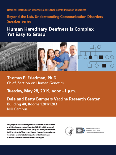 Beyond the Lab, Human Hereditary Deafness is Complex Yet Easy to Grasp Poster