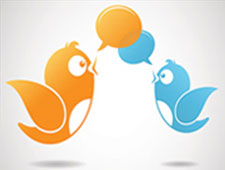 graphic of twitter birds