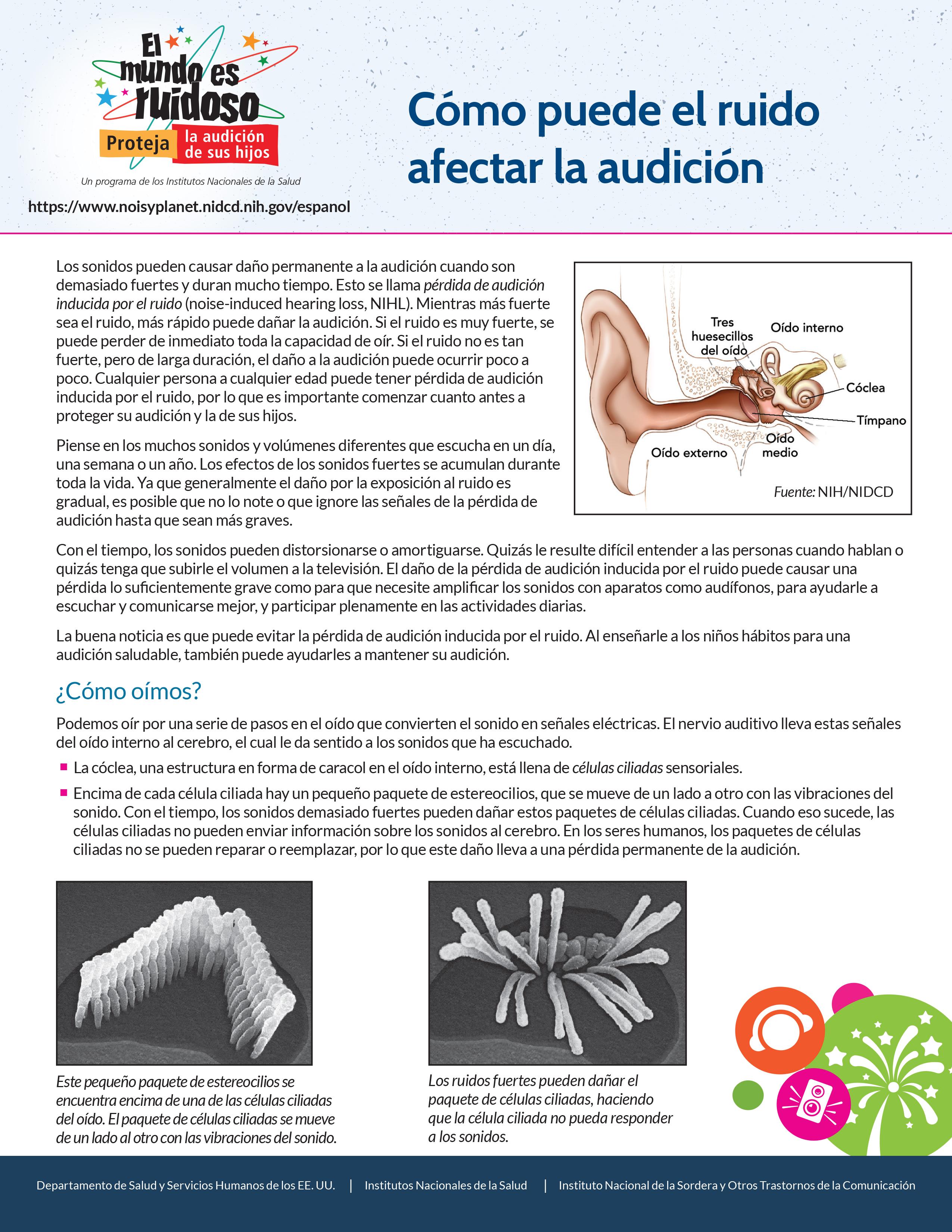 Cómo puede el ruido afectar la audición