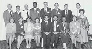 Photo of 17 standing people.