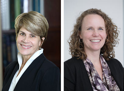 (Left image) Debara L. Tucci, M.D., M.S., M.B.A., director of the National Institute on Deafness and Other Communication Disorders (NIDCD), part of the National Institutes of Health (@NIDCDdirector).  (Right image) Kelly King, Au.D., Ph.D., research audiologist and program officer at the NIDCD.
