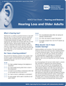 Hearing Loss and Older Adults