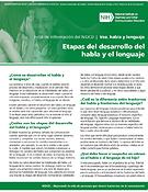 Etapas del desarrollo del habla y el lenguaje (Speech and Language Developmental Milestones)