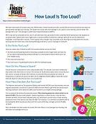 How Loud Is Too Loud?