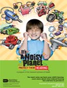 "It's a Noisy Planet. Protect Their Hearing poster, cartoon (11"" x 17"")"
