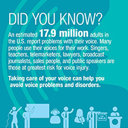 Taking Care of Your Voice Infographic
