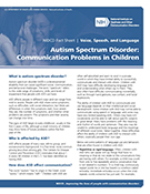 Communication Problems in Children with Autism Spectrum Disorder