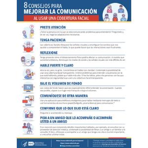 8 CONSEJOS PARA MEJORAR LA COMUNICACIÓN AL USAR UNA COBERTURA FACIAL